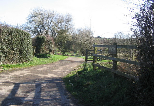 Entrance to Higher Ford Farm