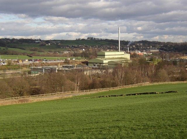 View of the sewage works from Steep Lane, Bradley, Huddersfield
