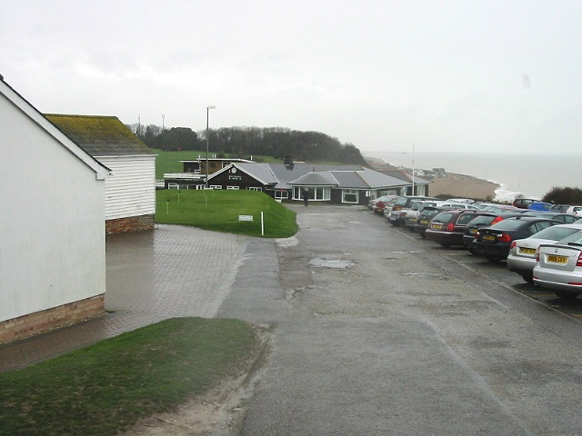 Clubhouse and car park, Kingsdown golf course