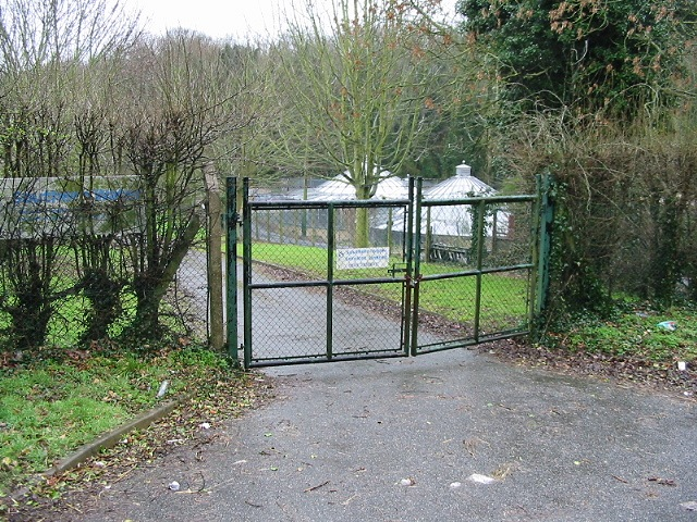 Locked gate to a Southern Water facility