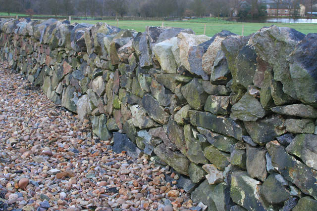 Dry stone wall at Charley Mill Farm