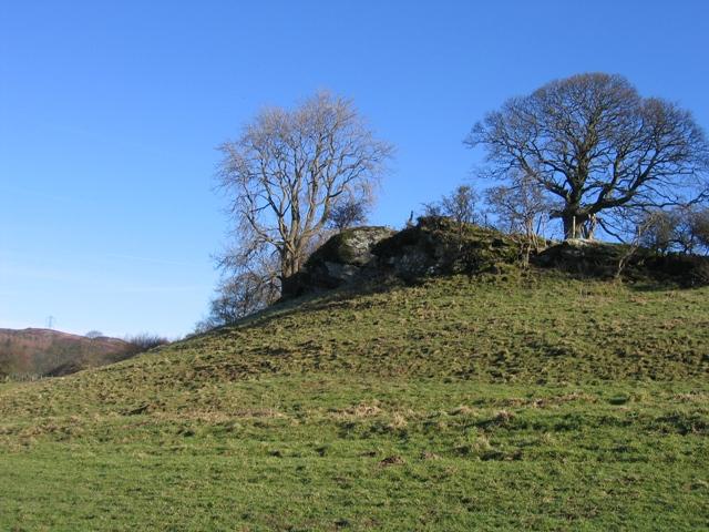 Limestone Crag near Pen-y-Bryn Farm