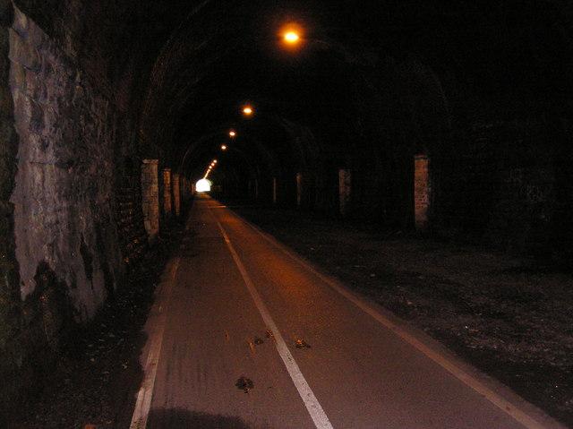 Inside Staple Hill Tunnel