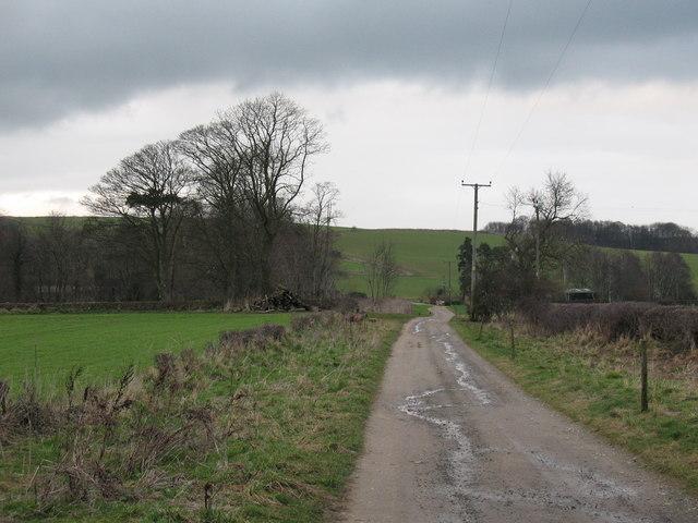 Private road and public bridleway near Terrington.
