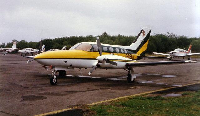 Cessna aircraft at Blackbushe, 1985