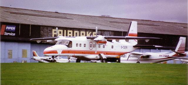 Main hangar at Fairoaks airfield, 1989