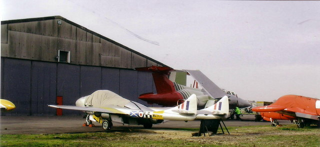 Aircraft outside the Bournemouth Air Museum, Hurn.
