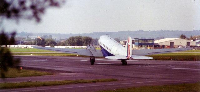 Airliner at Staverton, 1978