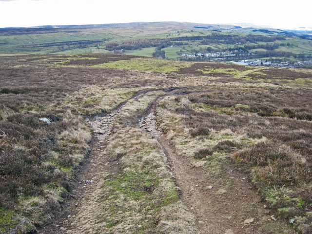 Moorland track above Shittlehope Edge