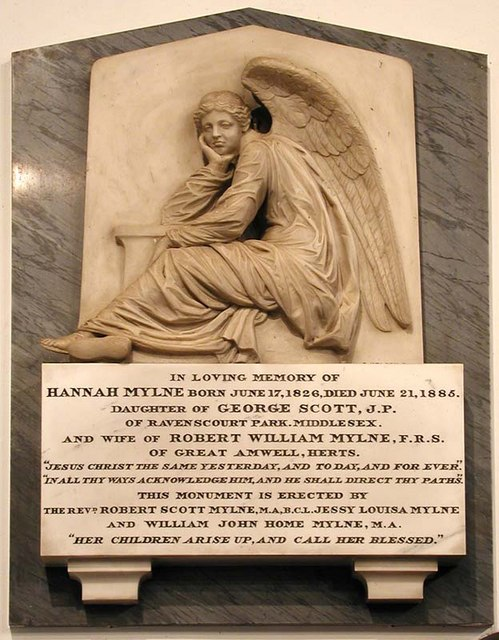 St. John the Baptist, Great Amwell, Herts - Wall monument