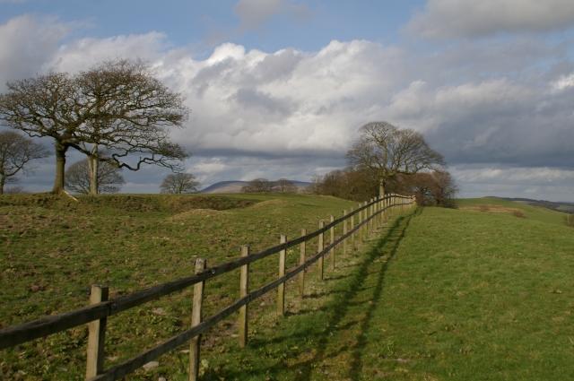 Field above Dean Clough reservoir
