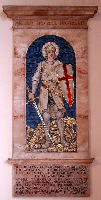 Holy Trinity, Bengeo, Herts - Memorial