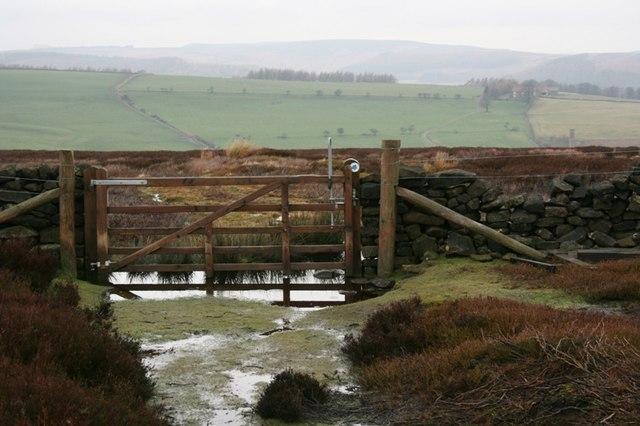 Gate, Public Bridleway, Kildale Moor