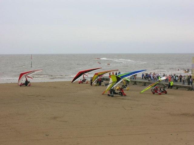 Burnham-on-Sea Beach during 2006 ESCAPE Day