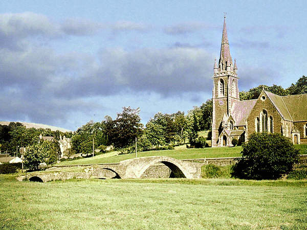 "The ""Roman"" bridge and church at Stow"