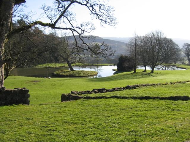Ornamental Lake and View at Bodidris Hall Hotel