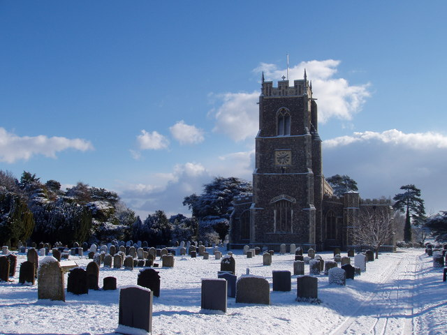 Loddon Church in Winter