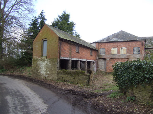 Old farm buildings at Lulham