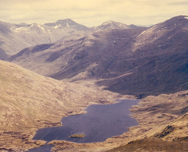 Loch and mountains from Ghlas Bheinn