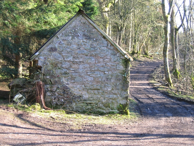 Stone Building and Woodland Track