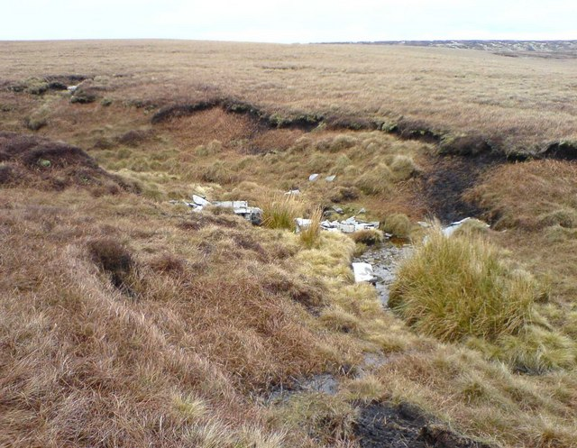 Meteor Wreckage in Meadow Clough, Sliddens Moss