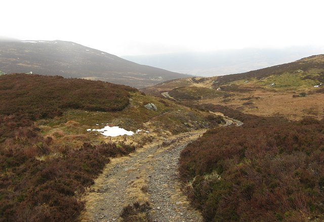Track up the Clunskea Burn