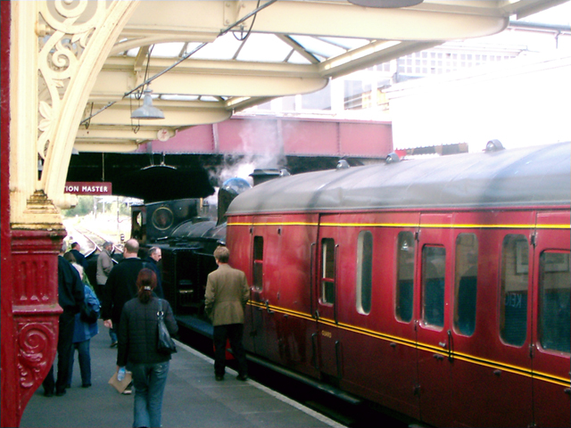 Steam Train at Keighley Railway Station