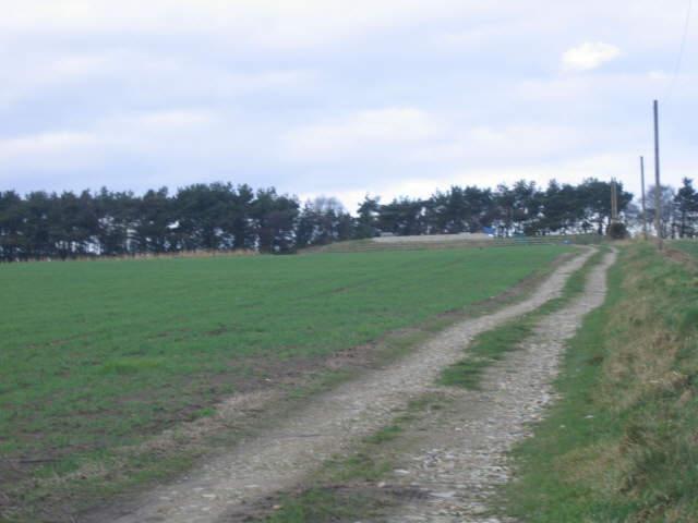 Track to Stony Moor service reservoir