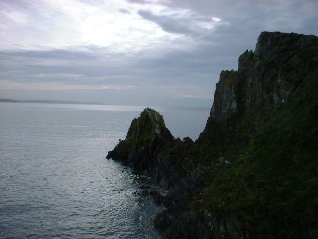 Rocks outside Mevagissey Harbour