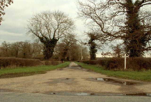 Road to Denham Hall Farm