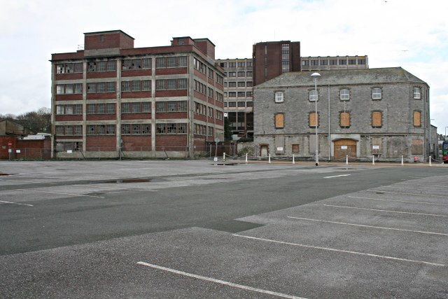 Disused buildings on Millbay Docks