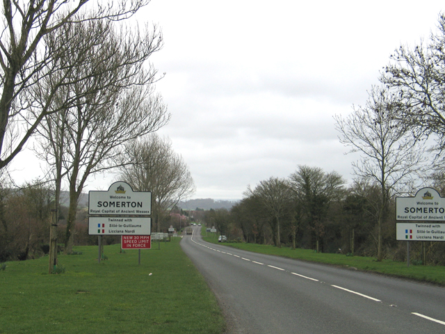 B3153 road to Somerton