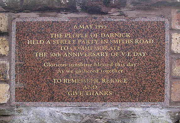 V-E Day commemorative stone
