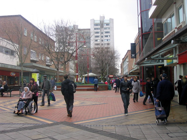 Part of the precinct in central Coventry