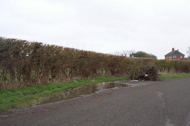 Roadside flytip near West Dean