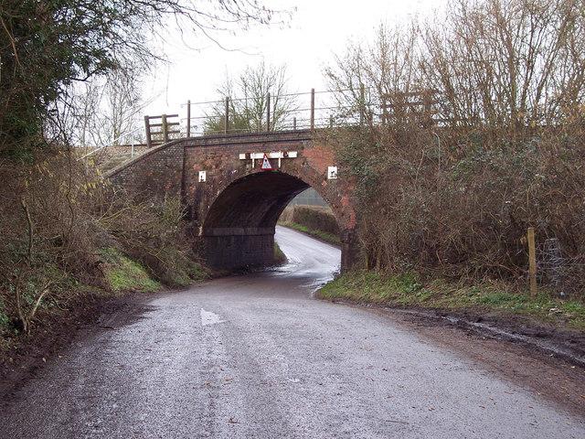 Railway bridge near West Dean