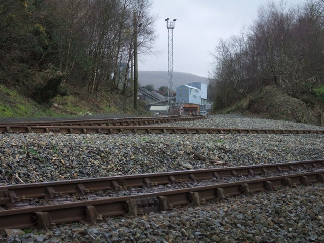 Railway lines at Meldon Quarry