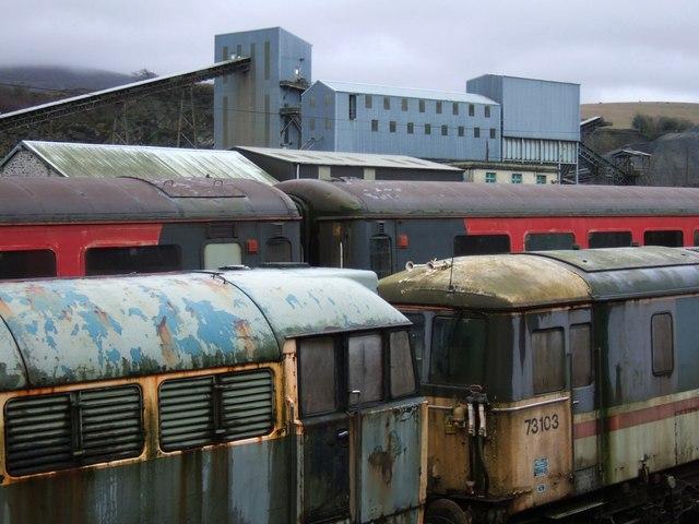 Rolling stock at Meldon Quarry