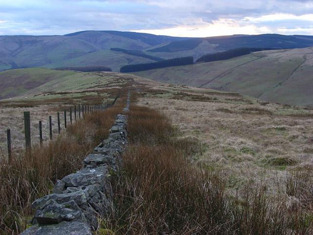 Ridge between Hassgair Heads and Upper Brydonswell Knowe