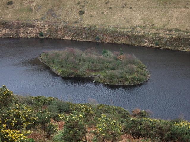 Island in Meldon Reservoir