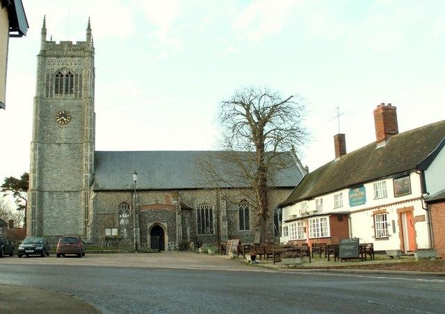 All Saints church at Laxfield