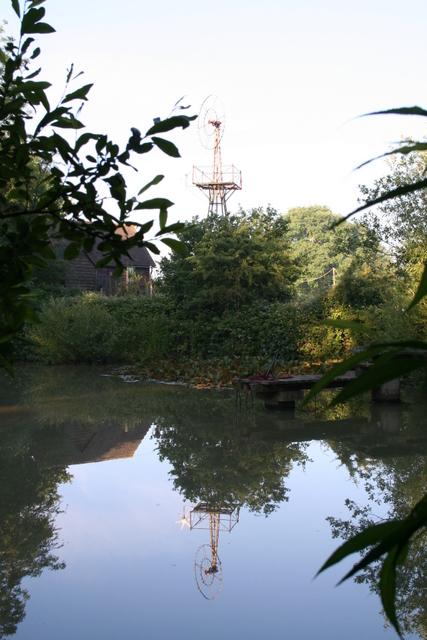 Pestalozzi pond and wind turbine