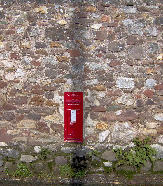 Victorian wall letter box in Luton, Devon