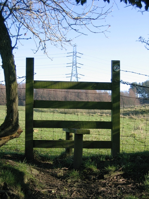 A Stile and Pylon on the Clwydian Way