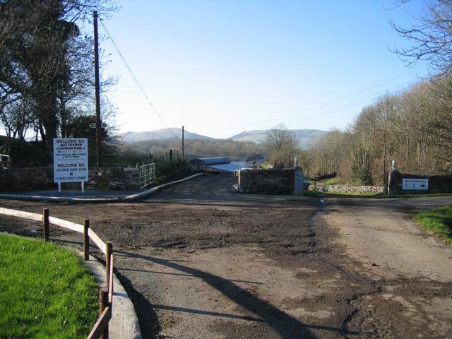 Entrance to Allt Gymbyd Farm