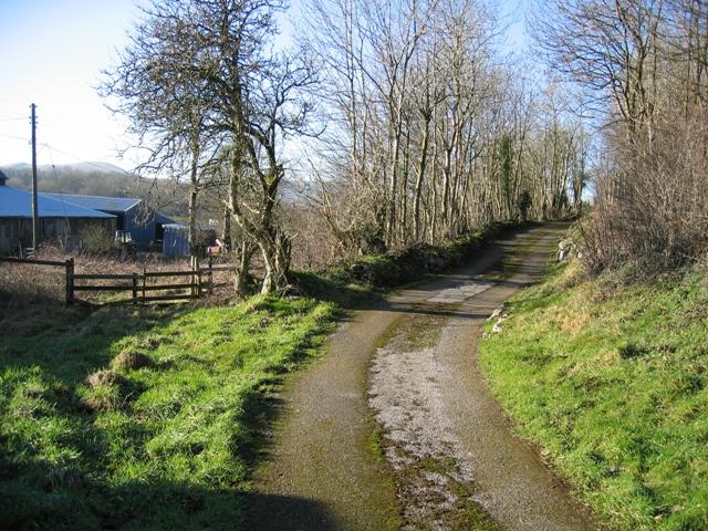 Track and Footpath near Allt Gymbyd farm