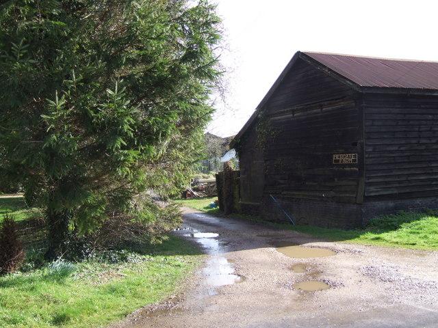 Entrance to Mergate Farm, Bracon Ash