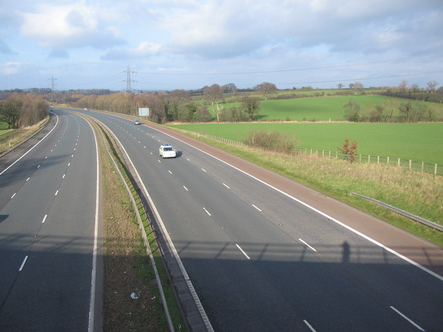 The M6 from Garlands Bridge