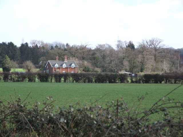 Across the Fields to House near Flordon Hall