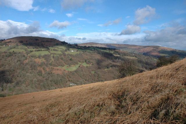 The north-western slopes of Bryn Arw